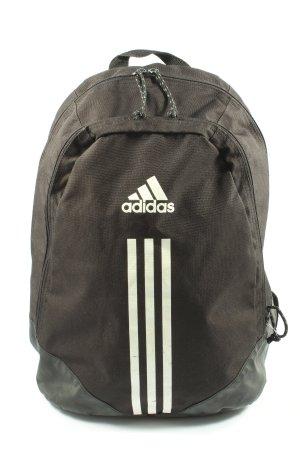 Adidas Tagesrucksack schwarz-weiß meliert Casual-Look