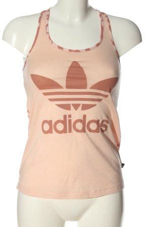 Adidas Tanktop room-roze gedrukte letters casual uitstraling