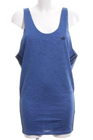 Adidas Tanktop blau-schwarz sportlicher Stil