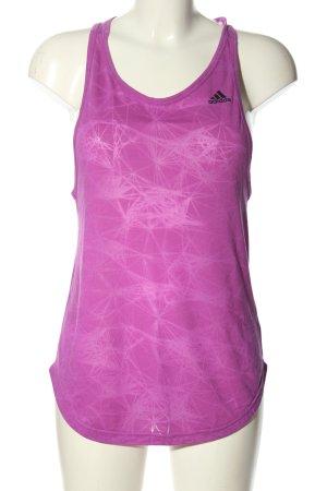 Adidas Tanktop lila-schwarz abstraktes Muster Casual-Look
