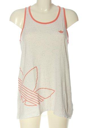 Adidas Tanktop weiß-rot Motivdruck Casual-Look