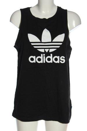Adidas Tanktop zwart-wit prints met een thema casual uitstraling