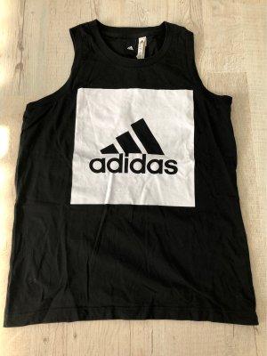 Adidas Canotta fitness nero-bianco