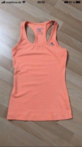 Adidas Canotta sportiva arancio neon