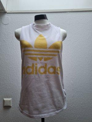Adidas Tanktop wit-geel