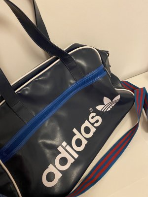 Adidas Sac de sport bleu foncé