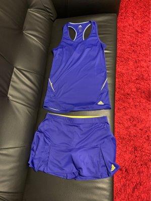 Adidas Spódnica midi niebieski-żółty