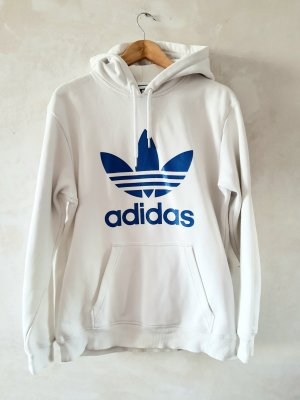 Adidas Sweatshirt blanc-bleu