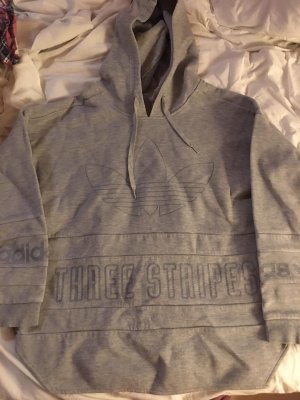 Adidas Sweter z kapturem jasnoszary-srebrny