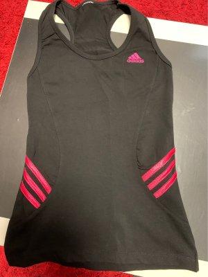 Adidas Top met spaghettibandjes zwart-framboosrood