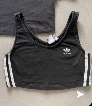Adidas Camisa recortada negro-blanco