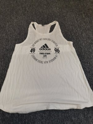 Adidas Top deportivo sin mangas blanco