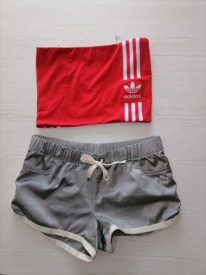Adidas Trackies silver-colored-red