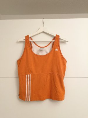 Adidas Canotta sportiva bianco-arancione
