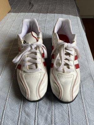 Adidas Sneaker stringata bianco-rosso