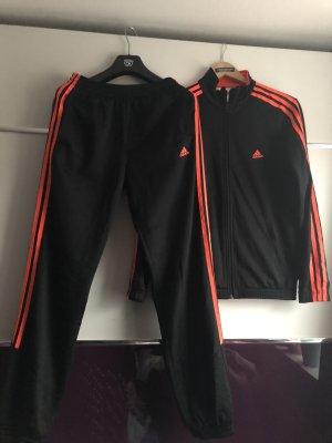 Adidas Chaqueta deportiva negro-naranja neón