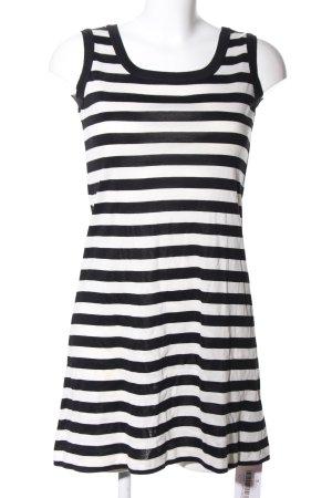 Adidas Trägerkleid schwarz-weiß Streifenmuster Casual-Look