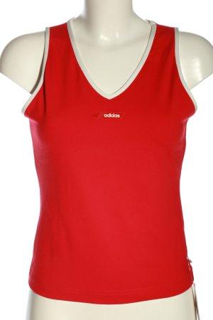 Adidas Trägertop rot-weiß Casual-Look
