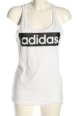 Adidas Trägertop weiß-schwarz Casual-Look