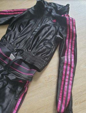 Adidas Pantalon de sport noir-rose polyester