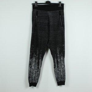 Adidas Trainingshose Gr. 36/38 schwarz grau meliert (19/11/115)