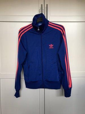 Adidas Veste de sport bleu-rose fluo