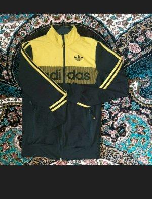 Adidas Kurtka oversize czarny-złoto