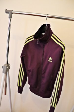 Adidas Sports Jacket blackberry-red polyester