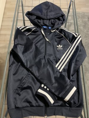 Adidas Giacca fitness blu scuro