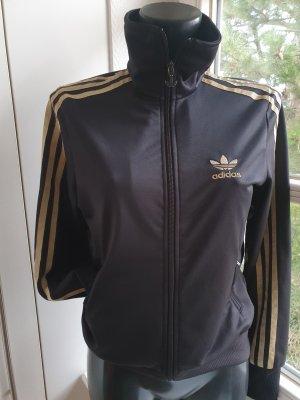 Adidas Sports Jacket black-gold-colored