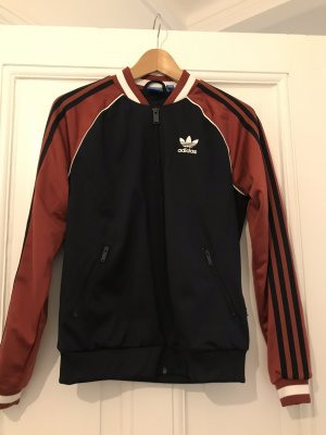 Adidas Sportjack bordeaux-donkerblauw