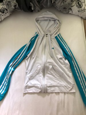 Adidas Sportjack wit-cadet blauw