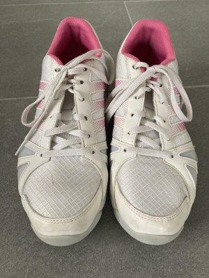 Adidas Sznurowane trampki biały-różowy