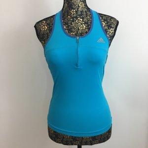 Adidas Sportshirt lichtblauw-korenblauw Textielvezel