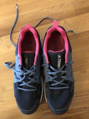 ADIDAS TRAXION TERREX Wander-/ Outdoorschuhe°Damen°dunkelblau/ pink°Gr. 40.5°wie neu, 1 x getragen