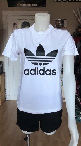 Adidas Trefoil Shirt Unisex weiß schwarz S/M