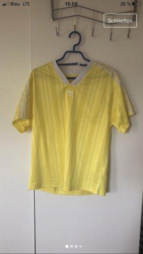 Adidas V-Neck Shirt neon yellow-white