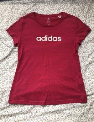 Adidas Camiseta rojo frambuesa