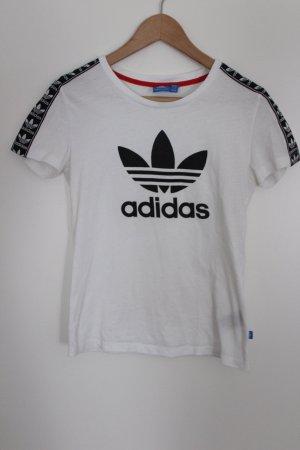 Adidas Tshirt weiß schwarz