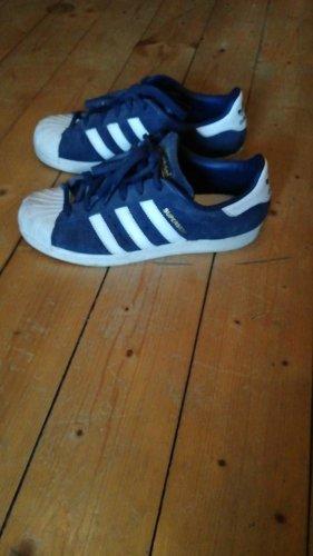 Adidas Turnschuhe Superstar blau weiß Gr. 40