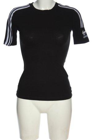 Adidas T-shirt czarny-biały Nadruk z motywem W stylu casual