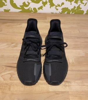 Adidas Lace-Up Sneaker black mixture fibre