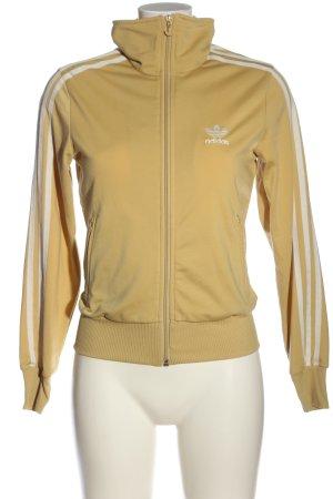 Adidas Sweatjacke blassgelb-weiß Casual-Look