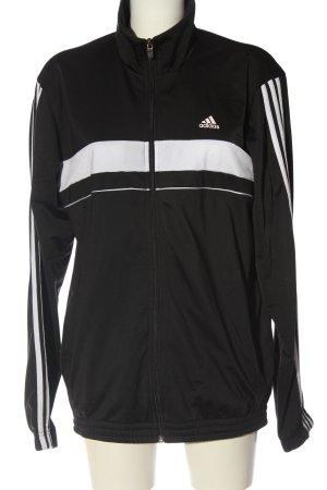 Adidas Kurtka przejściowa czarny-biały Wzór w paski W stylu casual