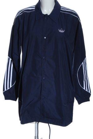 Adidas Veste mi-saison bleu-blanc style décontracté