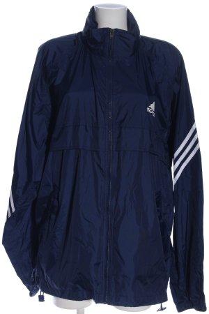 Adidas Übergangsjacke blau-weiß sportlicher Stil