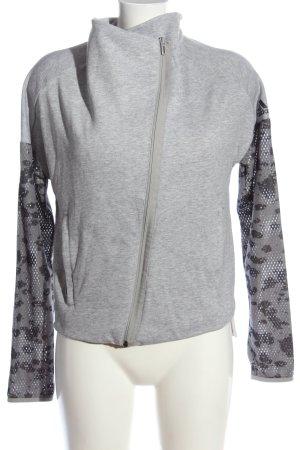 Adidas Übergangsjacke hellgrau-schwarz Camouflagemuster Casual-Look