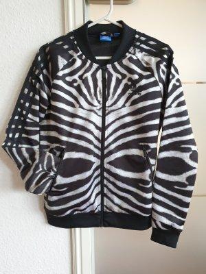 Adidas Übergangsjacke im Zebramuster