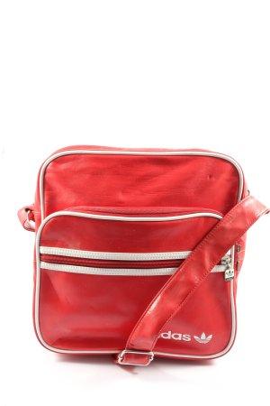 Adidas Borsa a spalla rosso-bianco Stampa a tema stile casual
