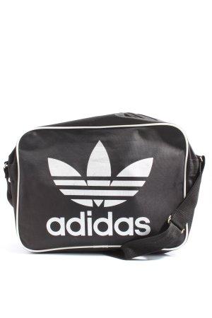 Adidas Umhängetasche schwarz-weiß Motivdruck Casual-Look